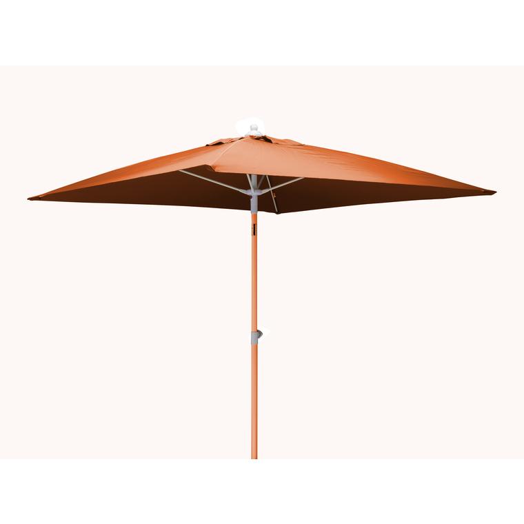 Parasol carré orange 2 m mât télescopique BOTANIC Prix 65.00 €