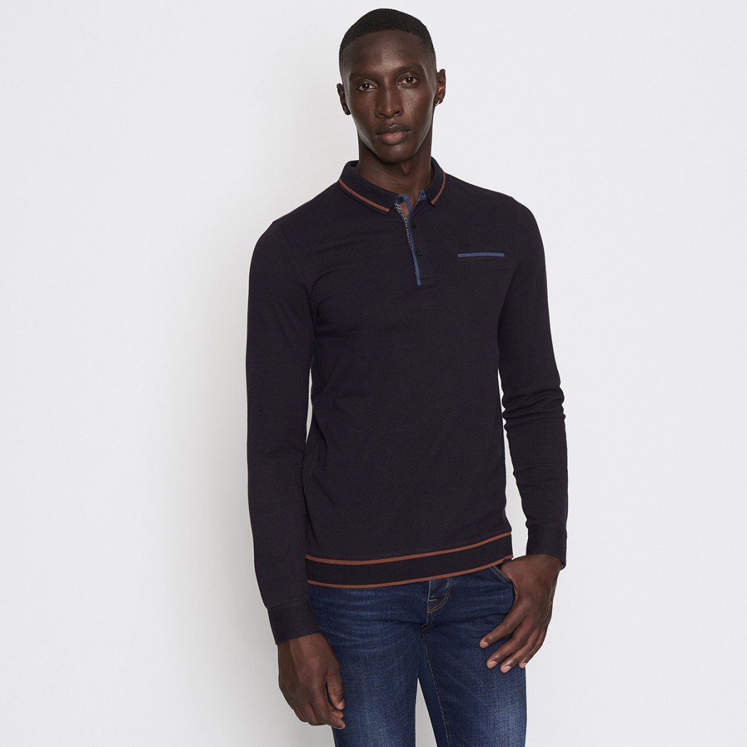 Polo manches longues homme casual DEVRED Prix 34,99 €