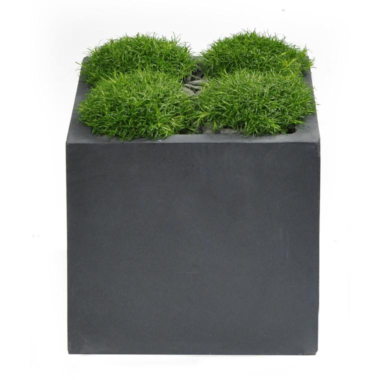 Pot carré GENEVE 23x23xH.23 Gris BOTANIC Prix 17.95 €