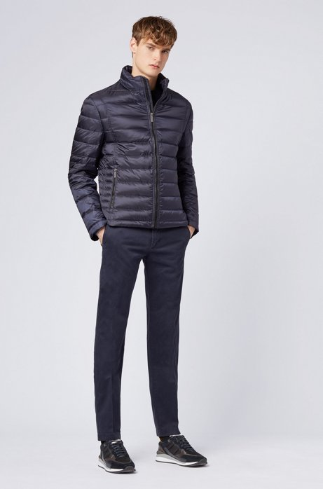Regular-fit down jacket in water-repellent technical fabric HUGO BOSS