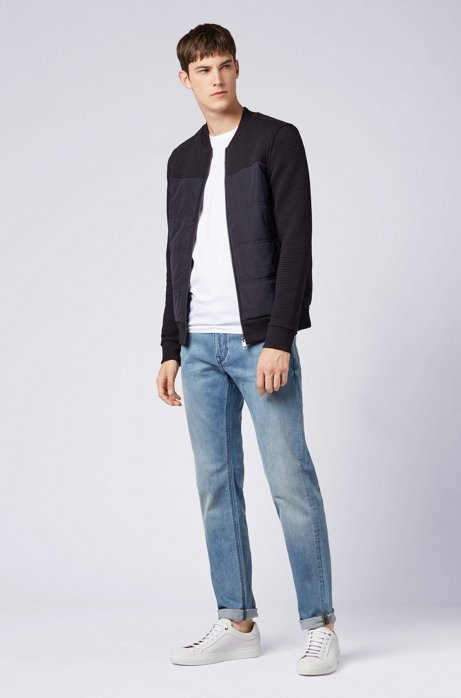 Regular-fit jeans in mid-washed stretch denim HUGO BOSS