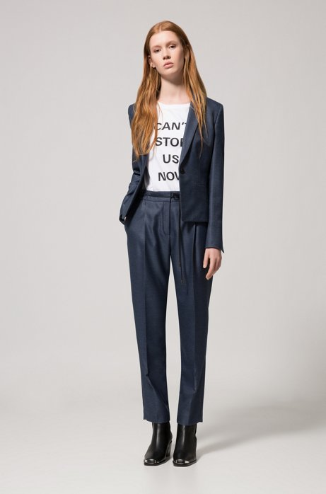 Relaxed-fit trousers in stretch fabric with drawstring waist HUGO BOSS