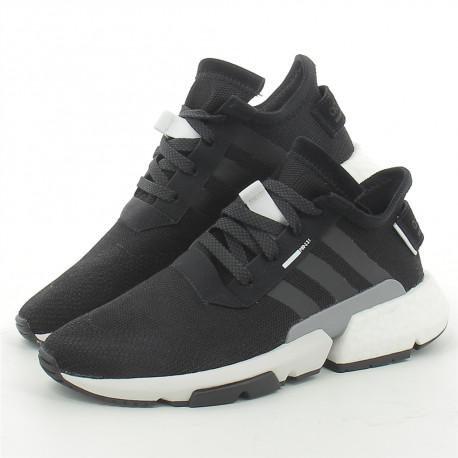 Sneakers pour homme en toile noir POD-S3.1-04 Hylton Prix 99,90 €