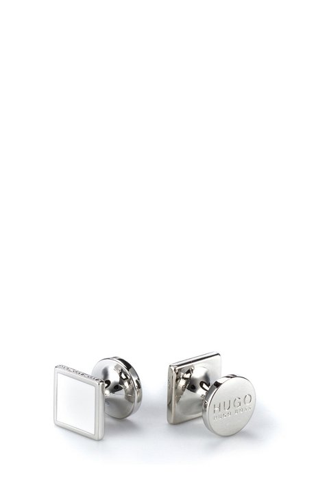 Square cufflinks with enamel detail HUGO BOSS