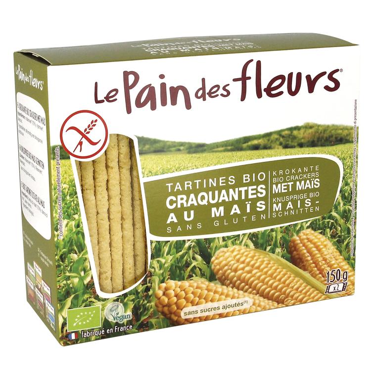 Tartines de maïs et riz bio en étui de 150 g BOTANIC Prix 1.99 €