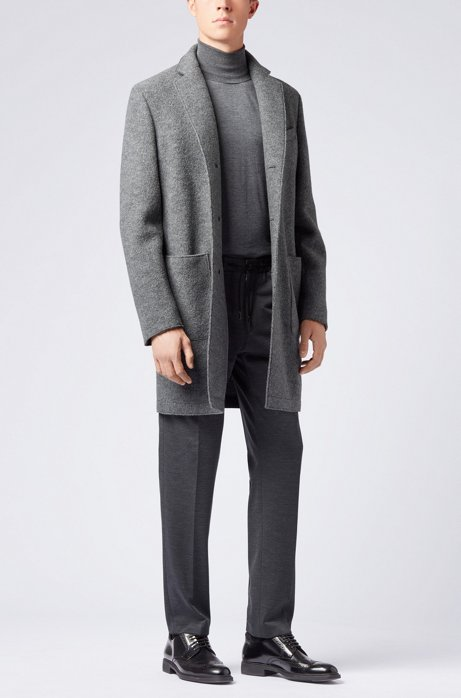 Turtleneck sweater in extra-fine Italian merino wool HUGO BOSS