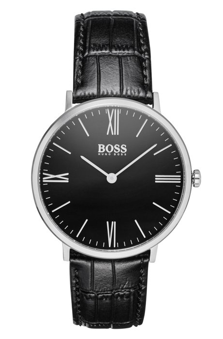 Two-hand watch and cufflinks gift set HUGO BOSS