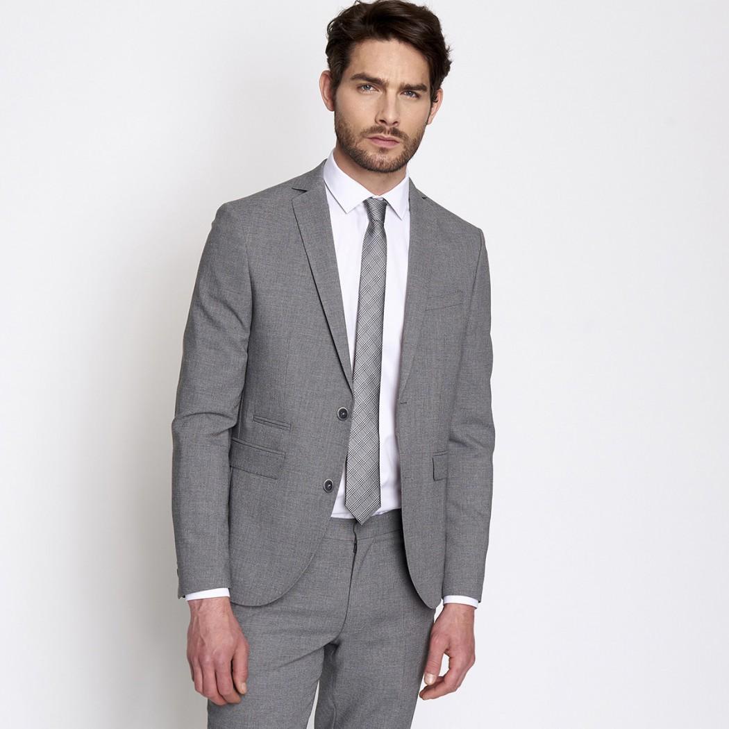 Veste de costume en toile grise DEVRED Prix 139,99 €