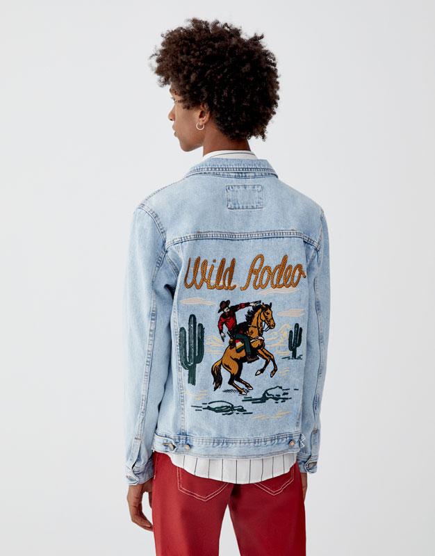 Veste jean 100 % Wild Rodeo Pull&Bear Prix 199.00 TND