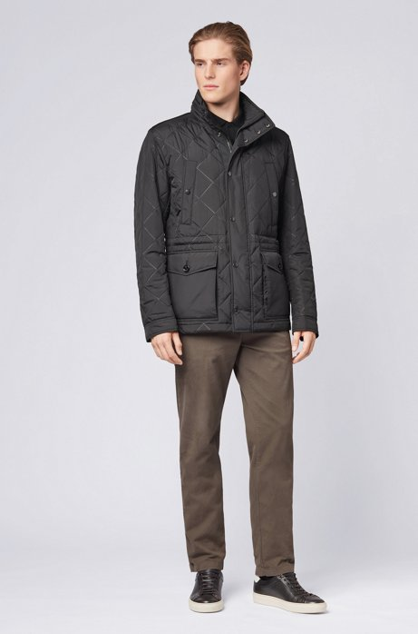 Water-repellent field jacket in ultrasonic quilted fabric HUGO BOSS