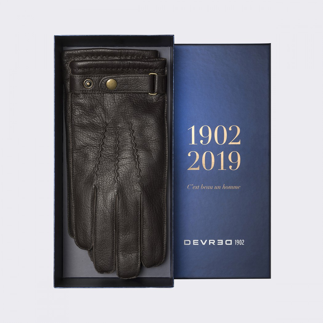 gants cuir velours homme DEVRED Prix 39,99 €