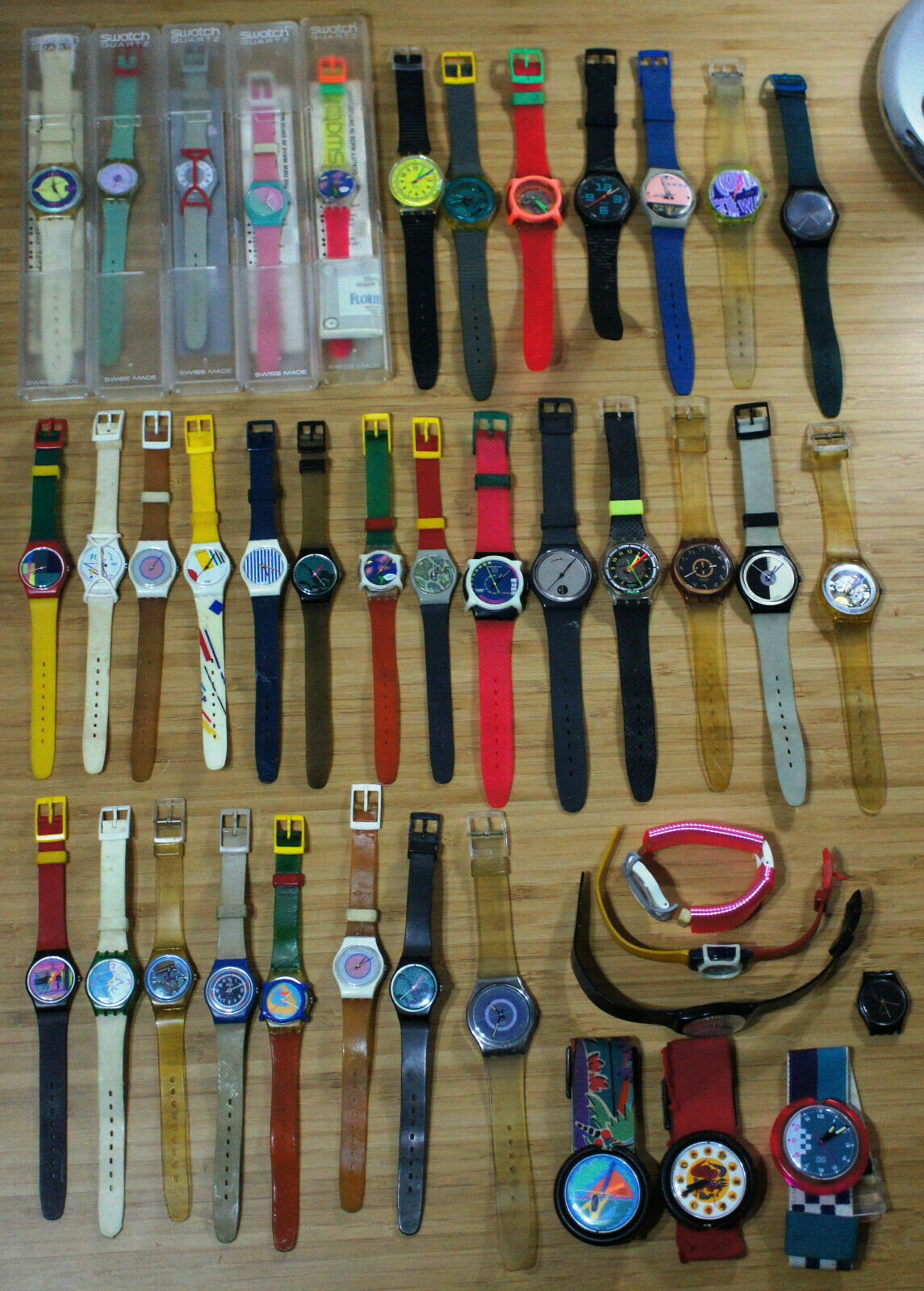 41 hommes et femmes vintage Swatch Watch Lot Swiss Pop