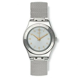 Montre à quartz suisse Swatch Medium YLS187M en acier inoxydable