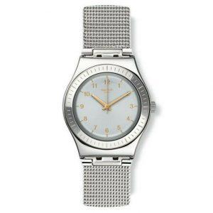 Montre à quartz suisse Swatch Medium YLS187M en acier inoxydable