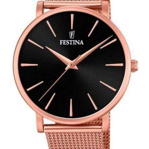 Montre Festina Boyfriend 38 mm cadran noir avec bracelet en