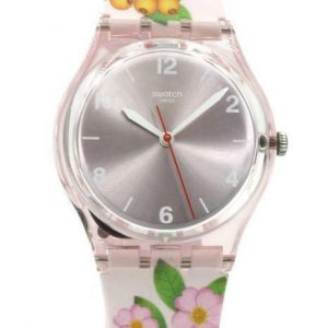 New Swatch Originals MERRY BERRY Rose Floral Femmes Montre en