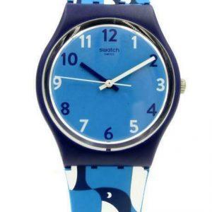 Nouveau Swatch Originals IGINO Small Penguins Blue Silicone Watch 33mm