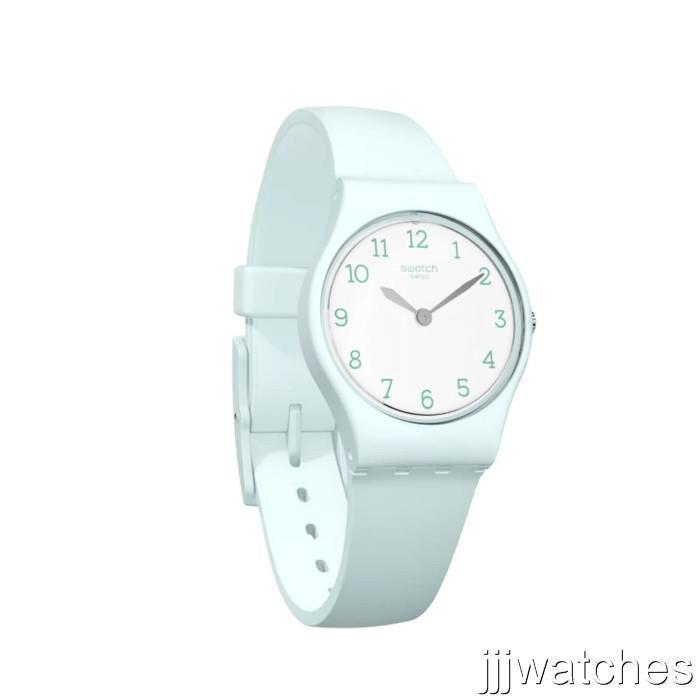 Nouveau Swiss Swatch Originals GREENBELLE Montre Femme Petite Silicone 25mm